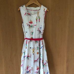 Mini Boden Whimsical Linen Dress, 9-10